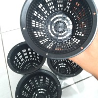Size 14cm Netpot Meshpot Pot Jaring Anggek Kaktus Sukulen Hidroponik