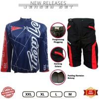 Paket Baju Jersey Kaos sepeda plus celana padding