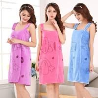 Handuk Baju Kimono Wearable Towel Handuk Multifungsi Kimono Handuk