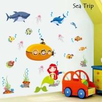 Wall Sticker 60x90 Sea Trip - Wallsticker Gambar Stiker Dinding