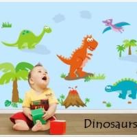 Wall Sticker 60x90 Dinosaurs - Wallsticker Gambar Stiker Dinding