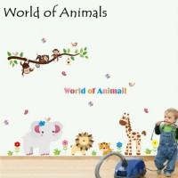 Wall Sticker 60x90 World Of Animals Wallsticker Gambar Stiker Dinding