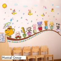 Wall Sticker 60x90 Musical Group - Wallsticker Gambar Stiker Dinding