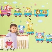 Wall Sticker 60x90 Animal Train - Wallsticker Gambar Stiker Dinding