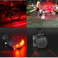 Lampu Sepeda Laser Led Lampu Laser Sepeda Bike Lamp Tail Light Bicycle