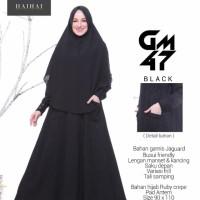 Gamis Set Hijab Syari Original Haihai GM 47 Gamis Jaguar-Hijab Crepe