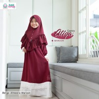 Baju Muslim Anak Cewek Original BBH Atiqa Gamis Queen Charming Polos