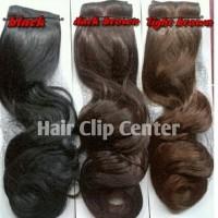 Poni Tail Lurus / Curly / Ponytail / Pony tail cilp - Cokelat