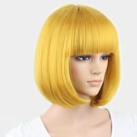 wig bob kuning / yellow