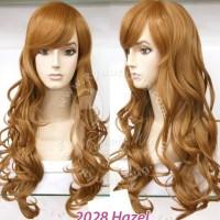 2028 | Wig long wavy / panjang gelombang - poni samping - Black