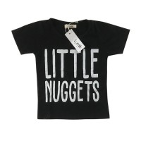 Little Nuggets Black Tee Special Store