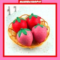 8CM Cute Squishy Strawberry Soft Kawaii Phone Keychain Bags Straps