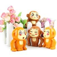 Monyet Putar Geser Geser Mainan Monkey Clockwork Windup Toy