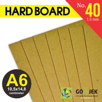 Karton Yellow Hard Board No. 40 Ketebalan 1.5 mm size A6 105x148 mm