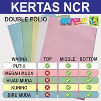 Kertas Nota Invoice NCR - Double Folio - Top Middle Bottom