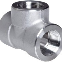 """1 1/2"""" (inch) tee stainless 304 class 3000"""