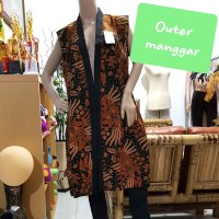 cardigan pinguin / outer pinguin batik / outerwear