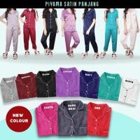 CP SATIN WANITA LENGAN PENDEK piyama baju tidur setelan pajamas bahan