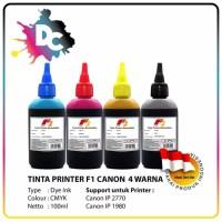 Tinta Printer F1 Canon CMYK 100ml (1 Set) For Printer Canon, Tinta Dye