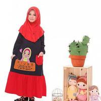 Hijab IChoseU/Gamis Babyterry/Gamis Anak/Gamis Kaos/Baju Muslim Anak