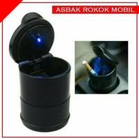 Asbak Mobil LED Tempat Abu Rokok Koin Car Ashtray F43