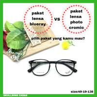 Frame kacamata Tersol j912 paket pilihan lensa blueray/photocromic