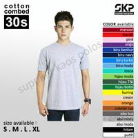 Kaos Polos Oblong Pendek Soft Combed 30s