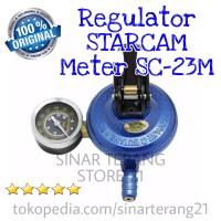 Regulator Kompor LPG STARCAM + METER Star Cam Pengaman Gas Anti Bocor