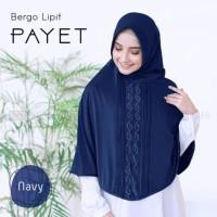Khimar hijab jilbab Bergo Lipit payet terbaru