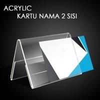 Acrylik / Akrilik kartu nama segitiga / akrilik name card holder 2sisi