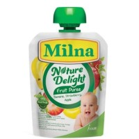 Milna Nature Delight Nature Banana, Strawberry, Apple 80gr - Pure Buah