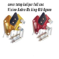 cover tutup pelindung kaliper full cnc yamaha vixion-mx king-r15-byson