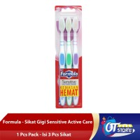 FORMULA SIKAT GIGI SENSITIVE ACTIVE CARE PACK [1 PACK ISI 3]