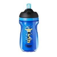 Tommee Tippee Gelas Sedotan Insulated Straw Cup Blue - 447027