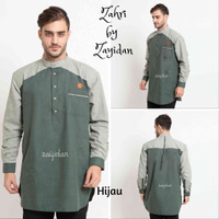Baju Koko Gamis Pria TERBARU Zahir - Zayidan - Hijau