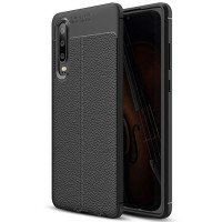 Huawei P30 P 30 Softcase Motif Leather Silikon Soft Case Cover Casing