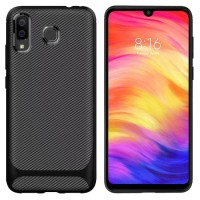 Samsung Galaxy A30 Softcase Motif Carbon Back Soft Case Cover Casing