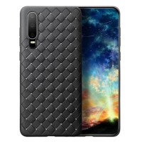 Huawei P30 Softcase Cooling Mesh Leather Back Soft Case Cover Casing