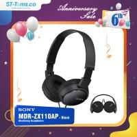 Sony MDR ZX110AP / MDRZX110AP / ZX110 AP Monitoring Headphones Black