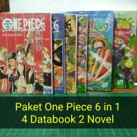 Paket One Piece Databook 3 In 1 Red Blue Yellow