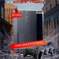 ps3 Super slim void sony hdd 500gb + ful game + 2 stik wirrles