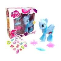Mainan Kuda Little Pony Happy Horse Set Boneka