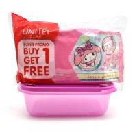 BUY 1 GET 1 TISU BASAH UNITEI / WET TISSUE ISI 40 BONUS LUNCH BOX