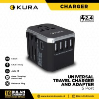 (TF) KURA Universal Travel Charger & Adapter