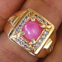Cincin Natural Batu Ruby Burma Asli Batu Alam Like Mirah Delima