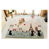 TERLARIS Karpet selimut karmut paris romatis empuk lembut 100x150 cm
