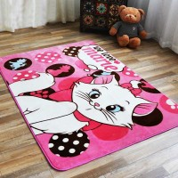 GROSIR Karpet selimut karmut White Cat Lucu Empuk Lembut 130x185 cm