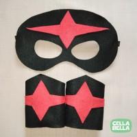 Topeng Gelang NOVA flanel. Kostum Superhero Marvel.