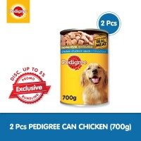 [Isi 2 Pack] Pedigree Can 700gr Makanan Anjing Basah rasa Chicken