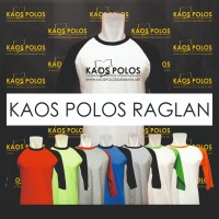 Kaos Polos Raglan Surabaya Cotton Combed SIZE S, M, L,